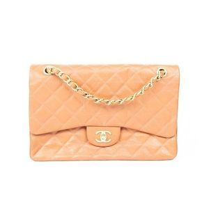 CHANEL Caviar Quilted Jumbo Double Flap Be…